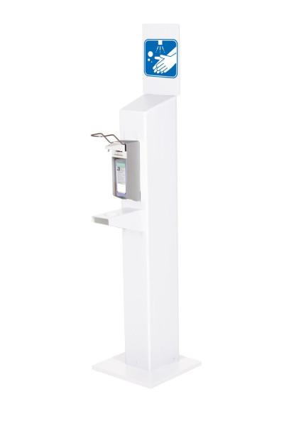 Hygiene Stele mit Universalspender (weiß)