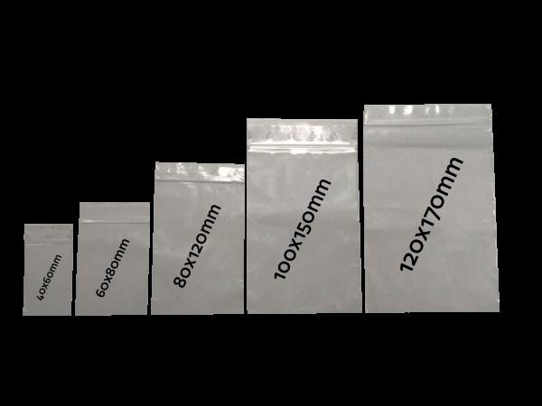 LDPE Druckverschlussbeutel 120x170 mm, 50my