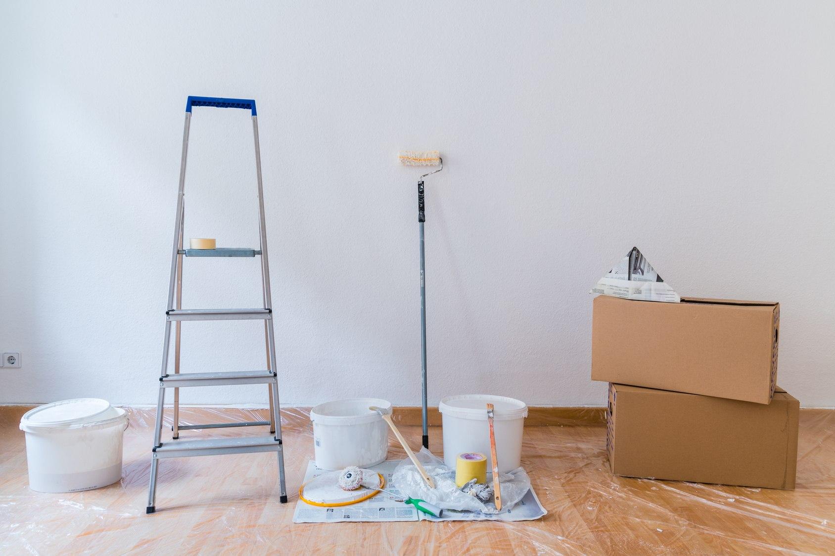 Wände streichen bei Umzug und Renovierung | Kartonara.de