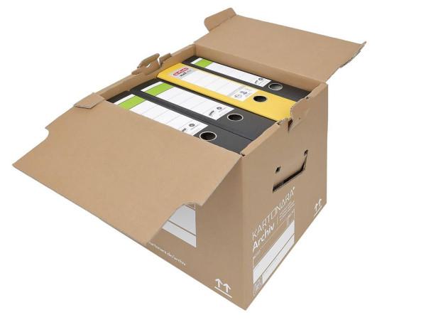 150 Stück Kartonara Archivbox - Lagerbox für A4 Ordner
