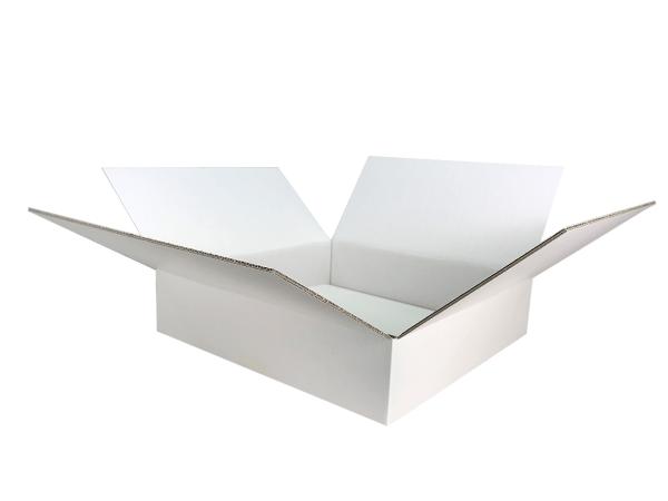 Faltkarton 400x400x100 mm weiß (2-wellig)