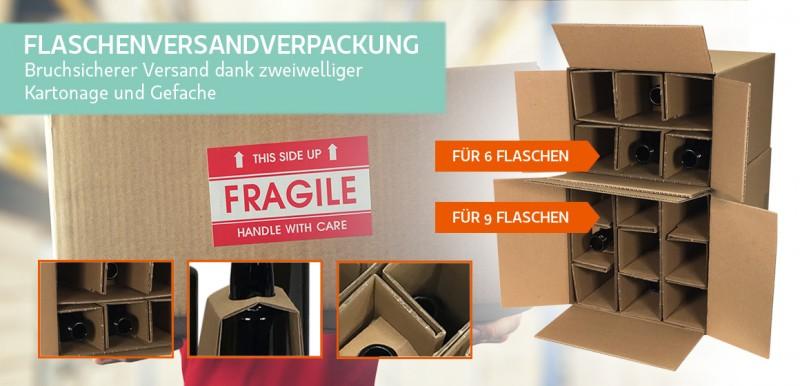 Flaschenversandverpackung