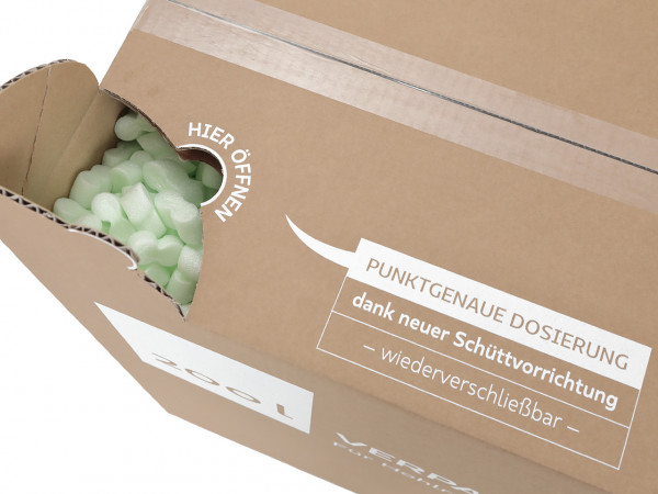 200 Liter Verpackungschips Green im Karton