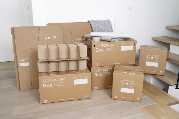 Umzugskartons: Komplettset für 2 bis 3-Zimmer-Wohnung