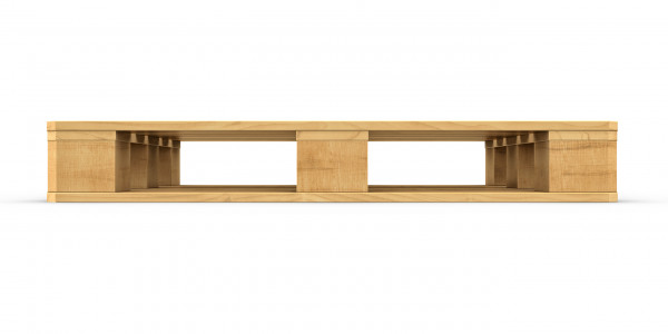 Einwegpalette 1200x800x130 mm aus Holz (IPPC Standard)