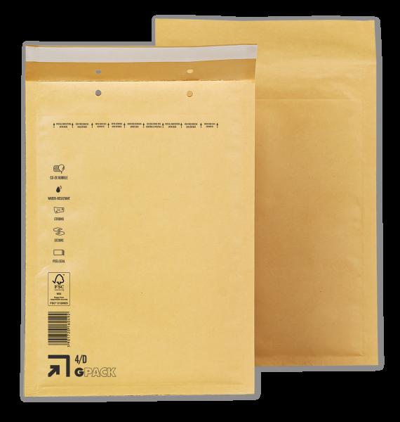 100 Luftpolsterumschläge D4 (4/D) braun