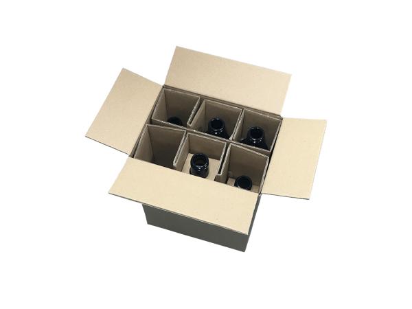 Flaschenversandkarton, 6 Flaschen, besonders für Spirituosen geeignet