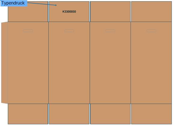 1 Palette Faltkartons 390x390x785mm