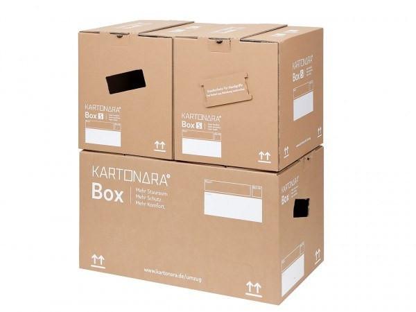 5 Stück Bücherkarton Kartonara Box S, 32 Liter