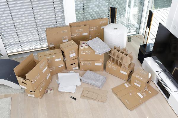 Umzugskartons: Komplettset 4 bis 5-Zimmer-Wohnung