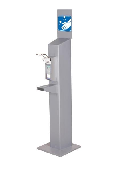 Hygiene Stele mit Universalspender (grau)