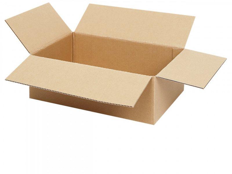 80 Faltkartons 350x250x350 mm Einwellig Versandkartons Karton B-Welle braun